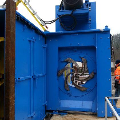 Livrare Decojitor Bustean Valon Kone model VK8082HD la fabrica de cherestea Forestar SA din Tarcau
